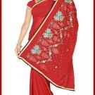 Indian Bollywood Designer Embroidered Saree Sari - Tu5598