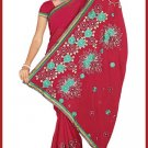 Indian Bollywood Designer Embroidered Saree Sari - Tu5552