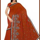Indian Bollywood Designer Embroidered Saree Sari - Tu5582
