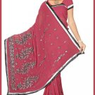 Indian Bollywood Designer Embroidered Saree Sari - Tu5577