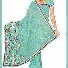 Indian Bollywood Designer Embroidered Saree Sari - Tu5565