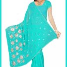 Indian Bollywood Designer Embroidered Saree Sari - Tu5562
