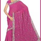 Indian Bollywood Designer Embroidered Saree Sari - Tu5554