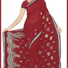 Indian Bollywood Designer Embroidered Saree Sari - Tu5525