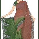 Indian Bollywood Designer Embroidered Saree Sari - Tu5549