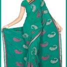 Indian Bollywood Designer Embroidered Saree Sari - Tu5544