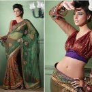 Indian Bollywood Designer Embroidered Bridal Wedding Saree Sari - X 803