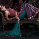 Indian / Pakistani Designer Wedding Bridal Light Work Saree Sari - X 1319