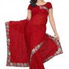 Indian Bollywood Designer Embroidered Saree Sari - Tu106a