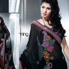 Faux Georgette Bridal Designer Embroidered Sarees Sari With Blouse - X 420
