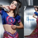 Faux Georgette Bridal Designer Embroidered Sarees Sari With Blouse - X 419