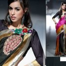 Faux Georgette Bridal Designer Embroidered Sarees Sari With Blouse - X 403