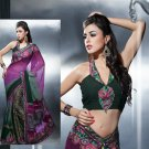 Brasso Georgette Bridal Designer Embroidered Sarees Sari With Blouse - X 417