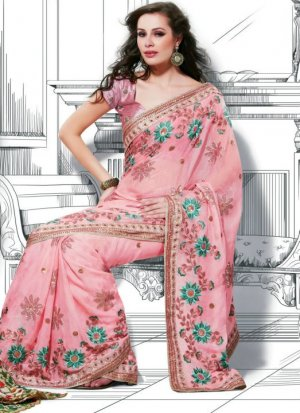 Bollywood Indian Saree Designer Bridal Wedding Sari - X1104