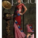 Sari Saree Jacquard Wedding Fancy Embroidered With Unstitch Blouse - RTN 24 N