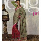 Sari Saree Jacquard Wedding Fancy Embroidered With Unstitch Blouse - RTN 21 N