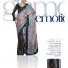 Sari Saree Viscose Wedding Fancy Embroidered With Unstitch Blouse - RTN 25 N