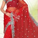 Partywear Net Designer Embroidered Saree Sari with Blouse- LS 2228c N