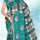 Partywear Faux Georgette Designer Embroidered Saree Sari with Blouse- LS 2604 N