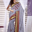 Sari Sarees Faux Georgette Fancy Embroidery Sari With Unstitch Blouse - RTN 35 N
