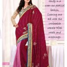 Sari Sarees Faux Georgette Fancy Embroidery Sari With Unstitch Blouse - RTN 33 N
