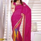 Sari Sarees Faux Georgette Fancy Embroidery Sari With Unstitch Blouse - RTN 39 N