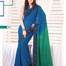 Sari Sarees Faux Georgette Fancy Embroidery Sari With Unstitch Blouse - RTN 31 N