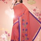Sari Sarees Faux Georgette Bridal Embroidered With Unstitch Blouse - RTN 07 N