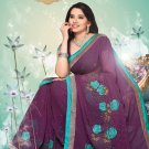 Sari Sarees Faux Georgette Bridal Embroidered With Unstitch Blouse - RTN 09 N