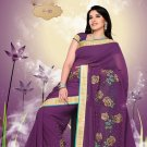 Sari Sarees Faux Georgette Bridal Embroidered With Unstitch Blouse - RTN 03 N