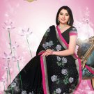 Sari Sarees Faux Georgette Bridal Embroidered With Unstitch Blouse - RTN 10 N