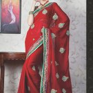 Bridal Faux Georgette Exclusive Designer Embroidery Sari With Blouse - X 929 N