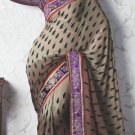 Bridal Faux Georgette Exclusive Designer Embroidery Sari With Blouse - X 906 N