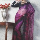 Bridal Net Exclusive Designer Embroidery Sari With Blouse - X 915 N