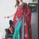 Bridal Faux Georgette Exclusive Designer Embroidery Sari With Blouse - X 916 N