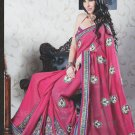 Bridal Faux Georgette Exclusive Designer Embroidery Sari With Blouse - X 922 N