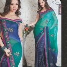 Bridal Chiffon Viscose Exclusive Designer Embroidery Sari With Blouse - X 919 N