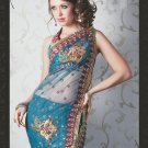 Bridal Net Exclusive Designer Embroidery Sari With Blouse - X 914 N