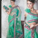Bridal Net Exclusive Designer Embroidery Sari With Blouse - X 913 N