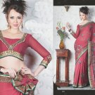 Bridal Faux Georgette Exclusive Designer Embroidery Sari With Blouse - X 901 N