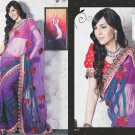 Bridal Net Exclusive Designer Embroidery Sari With Blouse - X 904 N