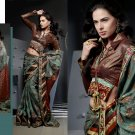 Sari Saree Casual Jacquard Bridal Embroidery With Unstitch Blouse - RTN 289 N