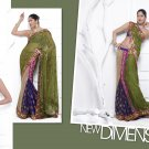 Sari Saree Casual Viscose Bridal Embroidery With Unstitch Blouse - RTN 275 N