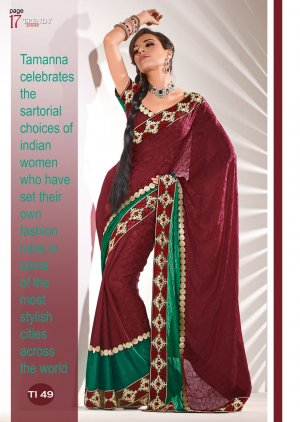 Sari & Sarees Jacquard Fancy Embroidered Sarees With Unstitched Blouse- RTN 49 N