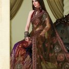 Bollywood Indian Designer Embroidered Wedding Bridal Saree Sari - HF - 7012