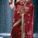 Bollywood Net Bridal Embroidered Sarees Sari With Blouse - X 524