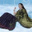 Bollywood Indian Saree Designer Bridal Wedding Sari Partywear - X 4018B