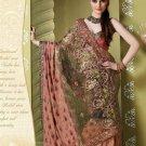 Bollywood Indian Designer Embroidered Wedding Bridal Saree Sari - HF - 7014