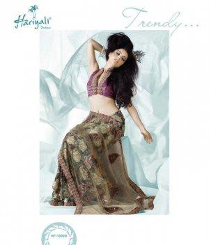 Bollywood Indian Designer Embroidered  Partwear Sarees Sari - HF 1000 B
