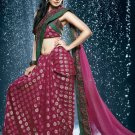 Bollywood Faux Georgette Viscose Embroidered Sarees Sari With Blouse - X 508
